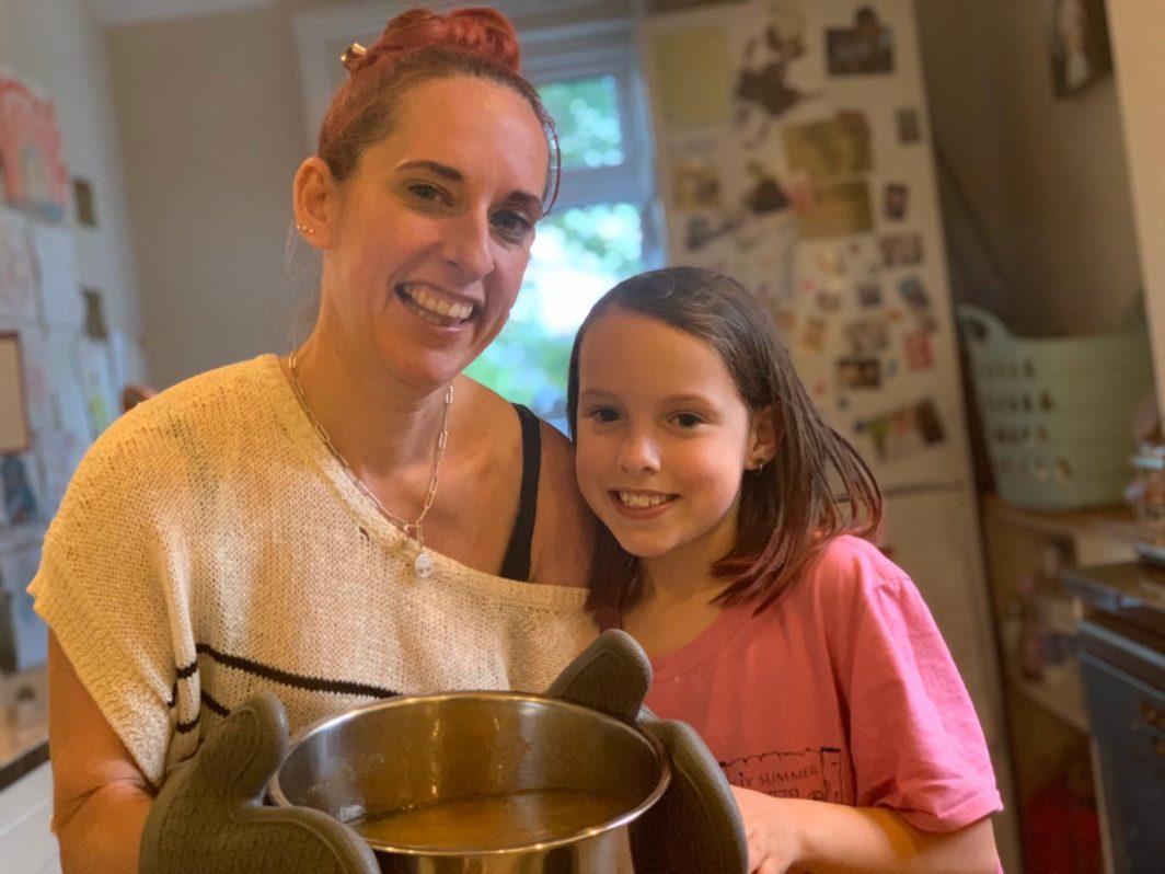 Rabbi Charley Baginsky and daughter Eliana