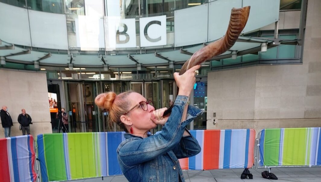 Rabbi Charley Baginsky at the BBC - cropped