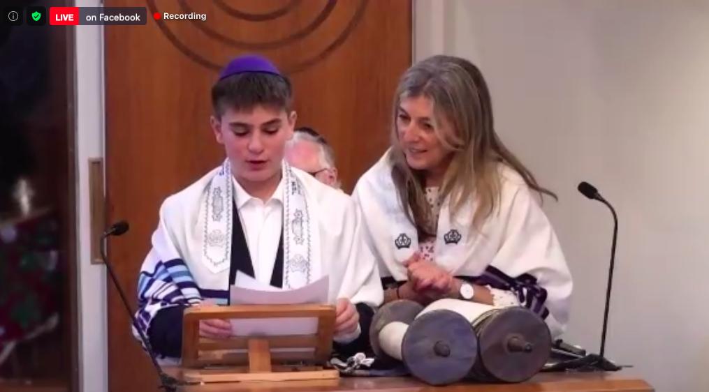 Rabbi Rebecca Birk and Rafael at FPS