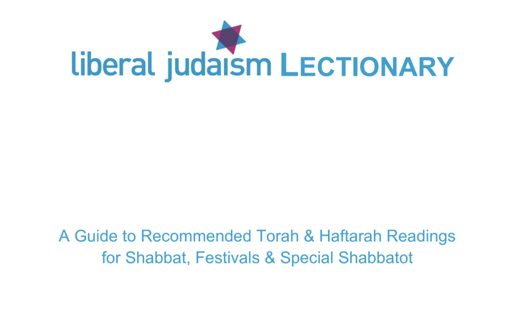 Liberal Judaism Lectionary 5782/83